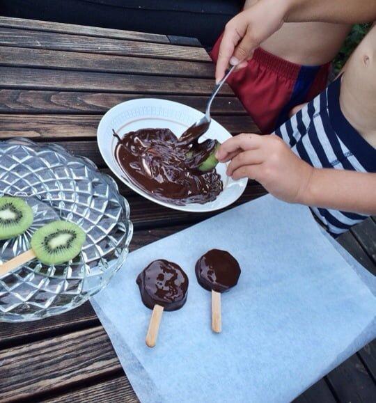 kiwiglass mörk choklad