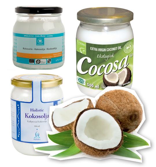 kokosolja kallpressad kokosfett